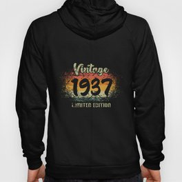 Vintage 1937 Limited Edition Birthday Gift Hoody