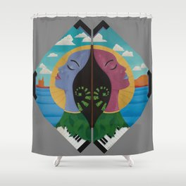 Due Respect Shower Curtain
