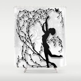 Dancing In Willows Shower Curtain