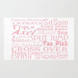 Figure Skating Subway Design in Millennial Pink Rug
