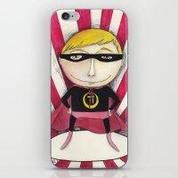 superhero iPhone & iPod Skins featuring Superhero by Sonia Puga Design