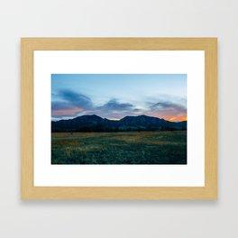 Boulder Sunset Framed Art Print