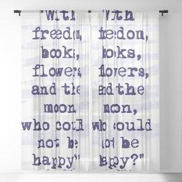Freedom Books Flowers Moon Sheer Curtain