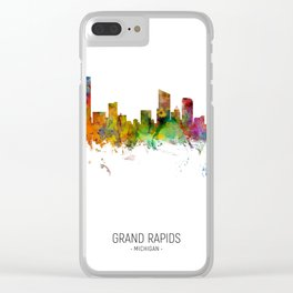 Grand Rapids Michigan Skyline Clear iPhone Case