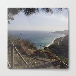 Taormina Bay of Sicily Metal Print