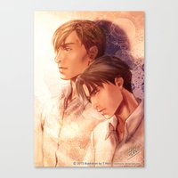 snk Canvas Prints featuring SNK Levia and Erwin by T.Wolv