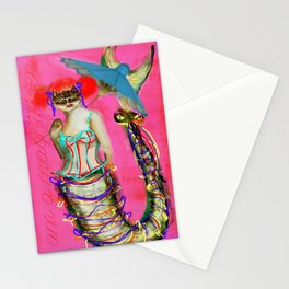 japanese mermaid Stationery Cards