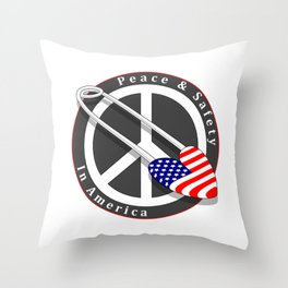 Safety in America Throw Pillow