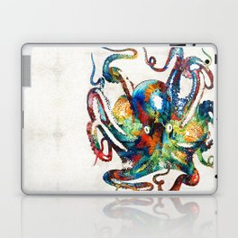 Colorful Octopus Art by Sharon Cummings Laptop & iPad Skin