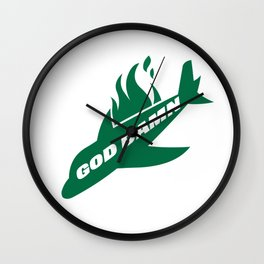 Jets God Dam Funny New York Football Wall Clock