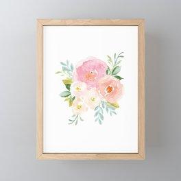 Sweet Pink Blooms (Floral 02) Framed Mini Art Print