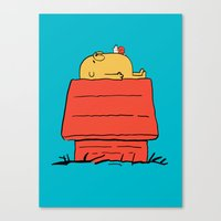 snoopy Canvas Prints featuring Snoopy Time! by penguinline