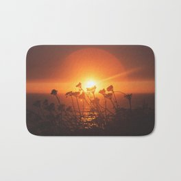 Sunsets and Weeds Bath Mat