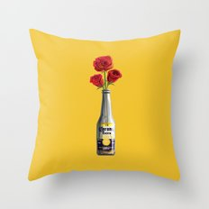 Dudes Love Roses (Yellow) Throw Pillow