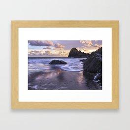 Kynance Cove, The Lizard, Cornwall, England, United Kingdom Framed Art Print