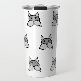 Schnauzer Pattern Travel Mug