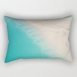 Teal Sands Rectangular Pillow