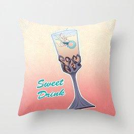 Sweet Drink Throw Pillow