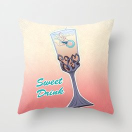 Sweet Drink Throw Pillow