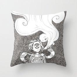 Winter Smoke Throw Pillow