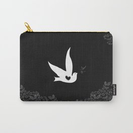 Love and Freedom - Black Carry-All Pouch