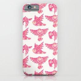 Owls in Flight – Pink Palette iPhone Case