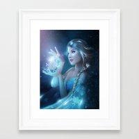 elsa Framed Art Prints featuring Elsa by Alexandra V Bach