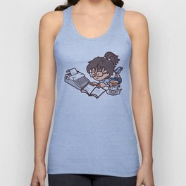 Books, tea and relax Unisex Tank Top