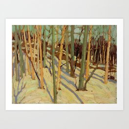 Tom Thomson Snow in the Woods (II) c. 1915 Canadian Landscape Artist Art Print