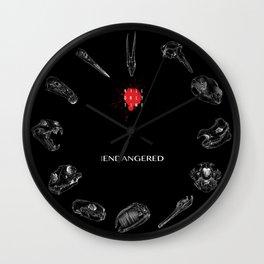 Endangered Species 2018 Wall Clock