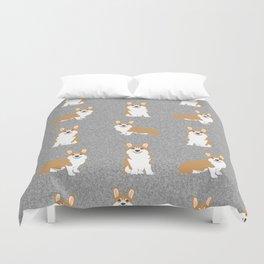 Corgis - Cute corgi, dog pet, corgi decor, corgi pillow, corgi bedding, corgi pattern, cute corgi Duvet Cover