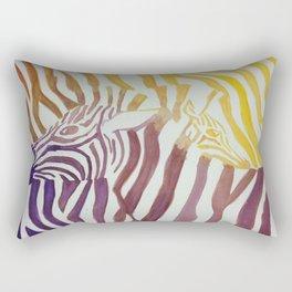 Contrasting Zebras Rectangular Pillow