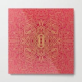 Radiate (Red Yellow Ochre non-metallic) Metal Print