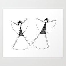Snow angels Art Print