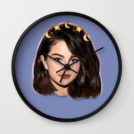 Kawaii moon girl Wall Clock
