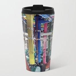 Killer Pipes  - Vintage collage Metal Travel Mug