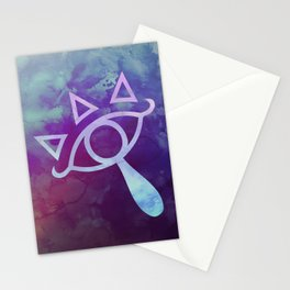 Watercolored Eye of Sheikah Stationery Cards