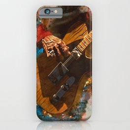 Keith Richards's five string guitar iPhone Case