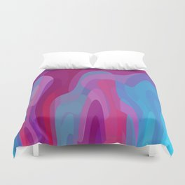 Bubblegum waves Duvet Cover