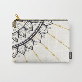 Mandala - Gold and Black Carry-All Pouch