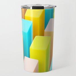 Color Blocking Pastels Travel Mug