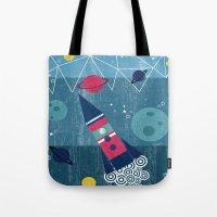 spaceship Tote Bags featuring Spaceship by Kakel