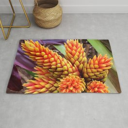 Hawaiian Tropical Elegant Jungle Flower Rug
