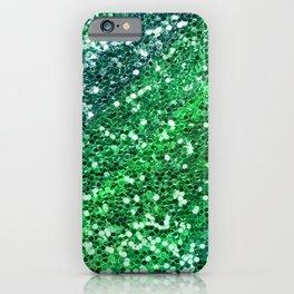 Glitter Sparkling Green Feminine Beautiful Pattern iPhone Case