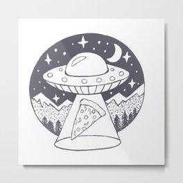 UFO Pizza  Metal Print