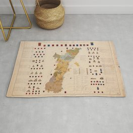 Historic Map of Alsace (1859) Rug
