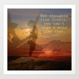 She Her 2 Girl Power Free Thoughts Female Empowerment Poem Art Print