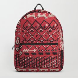 V22 Sheep herd Design Traditional Moroccan Carpet Texture. Backpack