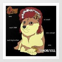 doge Art Prints featuring Diamond Doge by merimeaux