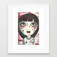 nurse Framed Art Prints featuring Nurse by Kitty Judge